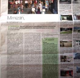 Revue de presse : Journal Sud Ouest - Immobilier 40 Titre :  MIMIZAN La renaissance
