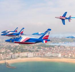 Meeting de la patrouille de France le 16 octobre à Saint Jean de Luz
