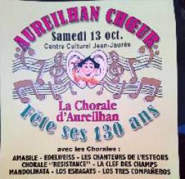 Aureilhan choeur concert le samedi 13 octobre à 17h